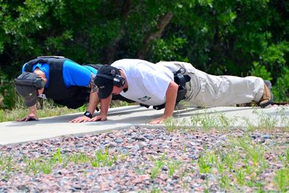officers doing push ups